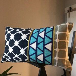 West Elm || Blue Lumbar Pillow Cover and Insert